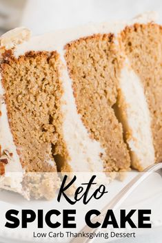 Keto Spice Cake Recipe - Don't like pie over the holidays? Then try this keto spice cake! It's gluten free, low carb and so, so amazing! You'll holiday guests won't even know it Keto Cake, Breakfast Recipes, Snack Recipes, Dessert Recipes, Keto Recipes, Keto Snacks, Dessert Ideas, Holiday Cakes, Holiday Desserts