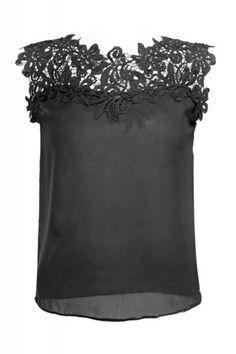 Lace Splicing Summer Vest