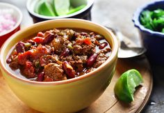 Deep, Dark and Stout Chili-made with dark stout beer