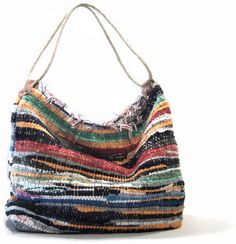 bag made from a rag rug