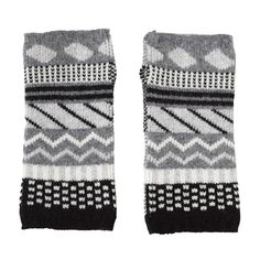 These playfully patterned wrist warmers will keep your hands cosy this winter. 100% Lambswool, knitted in Scotland.