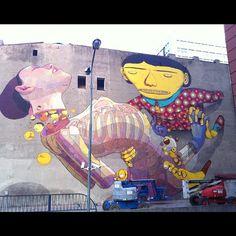 Aryz + Os Gemeos / Lodz, Polonia para el Urban Forms Festival / Foto: Os Gemeos