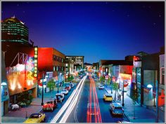 Route 66 at night by Marblestreetstudio.com - Get Route 66 information and Route 66 Map online.