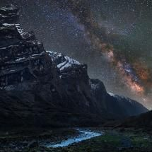 The Milky Way seen from high in the Himalayas.