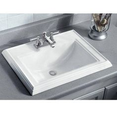Buy the Kohler Almond Direct. Shop for the Kohler Almond Memoirs Drop In Bathroom Sink with 3 Holes Drilled and Overflow and save. Top Mount Bathroom Sink, Square Bathroom Sink, Drop In Bathroom Sinks, Diy Bathroom, Square Sink, Undermount Bathroom Sink, Steam Showers Bathroom, Bathroom Fixtures, Bathroom Ideas