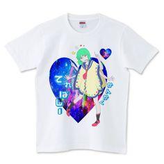 濃い宇宙のてれぱしー | デザインTシャツ通販 T-SHIRTS TRINITY(Tシャツトリニティ)