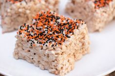 Halloween Vegan Rice Krispies Treats (with Aquafaba)