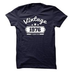 This grandpa grandfather shirt will be a great gift for you grandpa grandfather or your friend: Vintage 1976 All Original Parts Tee Shirts T-Shirts