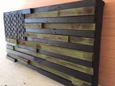 Hey, I found this really awesome Etsy listing at https://www.etsy.com/listing/471011632/military-army-green-wooden-american-flag