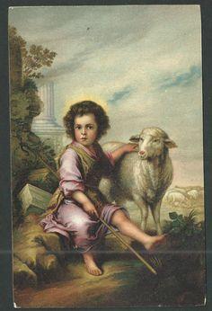 Postal antigua de San Juan Bautista andachtsbild santino holy card santini   eBay