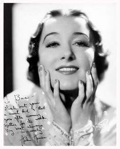 Love this 1930s look: finger waved hair, thin eyebrows and long eyelashes – gorgeous! The photo is of 1930s Vaudeville Performer Helen Hohan. Photographer:  Murray Korman