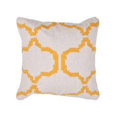 Handwoven Geometric Throw Pillow - Natural | dotandbo.com