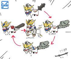 可愛到爆!! 日本插畫家畫Q版鐵... Blood Orphans, Gundam Iron Blooded Orphans, Gundam Custom Build, Gundam Wing, Mecha Anime, Gundam Model, Mobile Suit, Cute Art, Robot