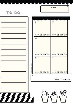 Printable Weekly Blog Planner