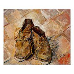 Vincent Van Gogh, Pierre Auguste Renoir, Toile New York, Van Gogh Arte, Oil On Canvas, Canvas Art, Shoe Poster, Van Gogh Museum, Van Gogh Paintings