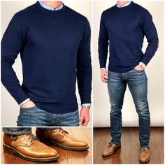 Blue Tones 👕💙👖 Blue is my favor… - Lässige Herrenmode Mens Fashion Suits, Mens Suits, Fashion Vest, Fashion Outfits, Stylish Men, Men Casual, Smart Casual, Casual Styles, Look Jean