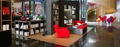 citizenM Bankside: On London's South Bank, citizenM is furnished with iconic pieces by Vitra, Eames and Panton.