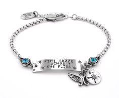 Birthstone ID Bracelet, Dainty Bracelet, Small ID Bracelet - Blackberry Designs Jewelry