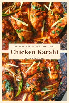 Chicken Karahi Recipe + Step by Step Pictures + Tips - Fatima Cooks Spicy Chicken Recipes, Indian Chicken Recipes, Indian Food Recipes, Ethnic Recipes, Pakistani Food Recipes, Indian Chicken Dishes, Bengali Food, Indian Foods, One Pot Dinners