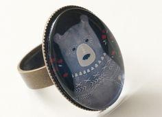 Anillo oso 25x18mm de Pero que monada! por DaWanda.com