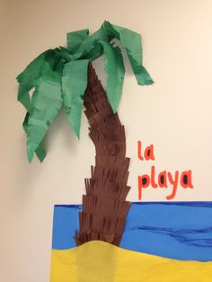 Great classroom decoration for a Spanish class or any other class. Spanish Classroom Decor, Future Classroom, School Classroom, Classroom Themes, Classroom Organization, Jungle Decorations, School Decorations, School Displays, Class Decoration