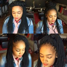 Crochet braids (Senegalese twist) How awesome is this! Crotchet Twists, Crochet Braids, Natural Styles, Awesome, Hair, Natural Looks, Strengthen Hair, Natural Hairstyles, Locs