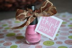 Think pink favor tags for a girl baby shower! FREE!