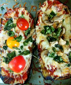 What Kara Bakes & Other Bits: Eggplant Pizza