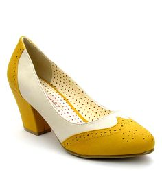 Look at this B.A.I.T. Yellow Hansel Pump on #zulily today!