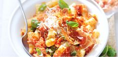 Take a look at this recipe (penne with tomato and basil pesto)
