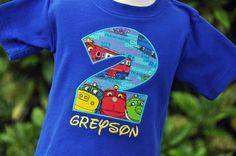 Personalized Chuggington Train Kids Birthday Shirt on Etsy, $21.00