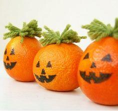 Helloween mandarijn  Gezonde traktatie mandarijnen