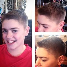 Traditional Brush-Cut Guys Hairstyle For 12 Year Old Continue reading by clicking the image or link, or why not visit us in person at our salon for more great inspirational hair ideas. Tween Boy Haircuts, Hairstyles For Teenage Guys, Boy Haircuts Short, Old Hairstyles, Summer Haircuts, Celebrity Hairstyles, Guy Haircuts, Beautiful Hairstyles, Short Hair For Boys