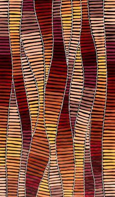 Aboriginal Artwork by Adam Reid Sold through Coolabah Indigenous Australian Art, Indigenous Art, Aboriginal Art Australian, Aboriginal Painting, Dot Painting, Encaustic Painting, Kunst Der Aborigines, Aboriginal Culture, Aboriginal Art Symbols
