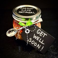 Get Well Gift- STEAMED Oatmeal in a Jar
