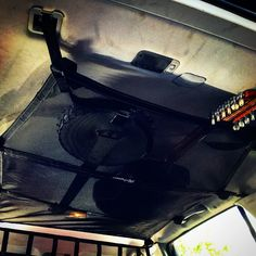 Banjo and guitar in the full length Subaru Outback ceiling net.  No modifications needed to install!