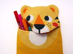 Cases & Pencil Cases – Stiftemäppchen Tom Tiger by Julica – a unique product by julicadesign on DaWanda