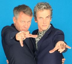 Sean Pertwee and Peter Capaldi - Comic Con 2015- that's some Who history there. As if anyone had to ask who Sean is!
