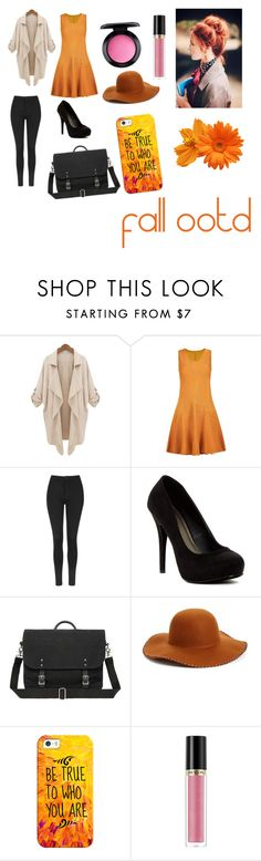 """outfit for autumn!!"" by marvelgirl18 ❤ liked on Polyvore featuring Topshop, Michael Antonio, Phase 3, Casetify, Revlon and MAC Cosmetics"