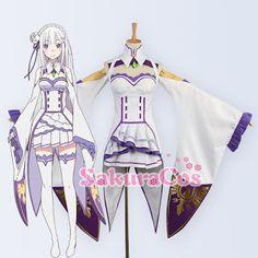 Re:Zero kara Hajimeru Isekai Seikatsu - Emilia Cosplay Costume…