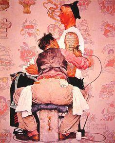 Norman Rockwell; The tattoist