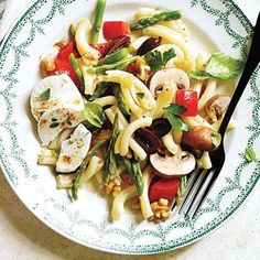 20-minute recipe: Vegetable Pasta Salad with Goat Cheese   Cookinglight.com