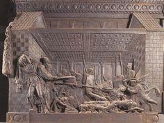 Particolare del Pulpito della resurrezione Donatello 1460 circa Stiacciato in bronzo Basilica di San Lorenzo, Firenze