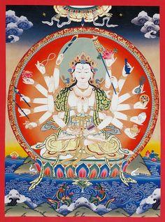 Thangka Art: Maha Cundi Bodhisattva 大準提佛母