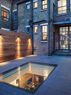 Brighten up dark rooms with Signature Bespoke Flat Glass Rooflights. Hand crafted in Great Britain. 10% off this September only! Roof Design, House Design, Walking On Glass, Moderne Pools, Terrasse Design, Terrace Floor, Basement Lighting, Basement House, Basement Kitchen