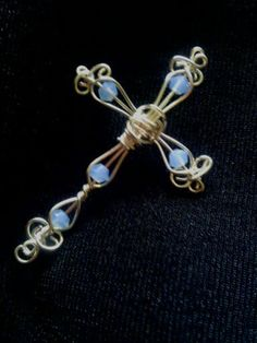 Wire Wrapped Cross Pendant /Color /Celtic by jonnaslighthouse, $24.00