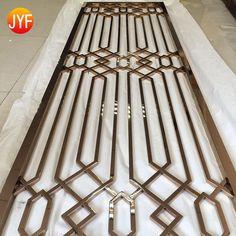 Door Design Interior, Interior Decorating, Decorative Panels, Decorative Metal, Iron Front Door, Living Room Partition, Stainless Steel Sheet, Window Grill Design, Rose Gold Mirror
