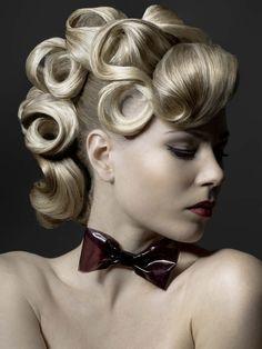 Gorgeous Vintage inspired hair Plus