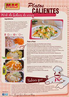 ¿Habéis probado alguna vez los fideos de arroz? Intentadlo con este exquisito Wok... ¡y ya nos contaréis! #InfoReceta #Receta
