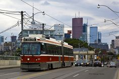 "Gotta love the sight of a Toronto TTC streetcar doing ""I think I can I think I can"" up hill, even though it blocks traffic all the while"